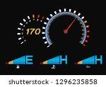 speedometer for car . fuel... | Shutterstock .eps vector #1296235858