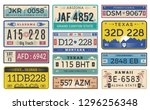 automobile plate license. utah... | Shutterstock .eps vector #1296256348