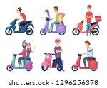 Man Ride Motorcycle. Fast Bike...
