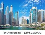dubai marina skyscrapers  port... | Shutterstock . vector #1296266902