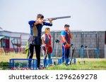 shooting sports. team workouts  ... | Shutterstock . vector #1296269278