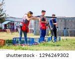shooting sports. team workouts  ... | Shutterstock . vector #1296269302