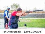 shooting sports. team workouts  ... | Shutterstock . vector #1296269305