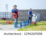 shooting sports. team workouts  ... | Shutterstock . vector #1296269308