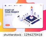 startup landing page.... | Shutterstock .eps vector #1296270418