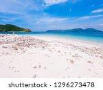 wide shot of aqua crystal clear ... | Shutterstock . vector #1296273478