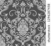 vector damask seamless pattern... | Shutterstock .eps vector #1296287458