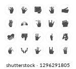 20 pinch  hand  holding  thumb... | Shutterstock .eps vector #1296291805