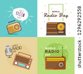 world radio day  illustration... | Shutterstock .eps vector #1296292558