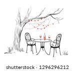 sketch of the celebration of... | Shutterstock .eps vector #1296296212