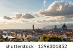 panoramic view of florence with ... | Shutterstock . vector #1296301852