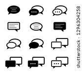 speech bubble logo design  ... | Shutterstock .eps vector #1296304258