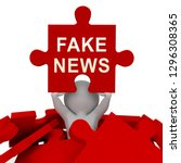 fake news media depicts online... | Shutterstock . vector #1296308365