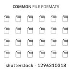 flat style icon set. system...