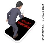 forgot password phone shows... | Shutterstock . vector #1296311035