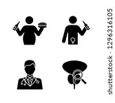 men's health glyph icons set....   Shutterstock .eps vector #1296316105