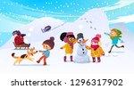 illustration of multiracial...   Shutterstock . vector #1296317902