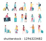 travel people. airport tourist... | Shutterstock .eps vector #1296323482