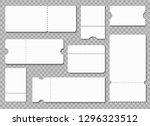 ticket template. white blank... | Shutterstock .eps vector #1296323512