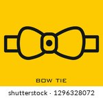 bow tie icon signs | Shutterstock .eps vector #1296328072