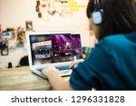 video on demand online... | Shutterstock . vector #1296331828