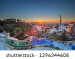 view of barcelone from the... | Shutterstock . vector #1296344608