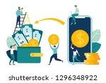 financial transactions  non... | Shutterstock .eps vector #1296348922
