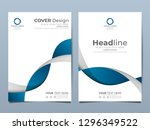 blue corporate identity cover... | Shutterstock .eps vector #1296349522