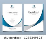 blue corporate identity cover...   Shutterstock .eps vector #1296349525
