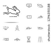 Stock photo running hare icon speed icons universal set for web and mobile 1296350188