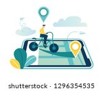 gps system  mapping of... | Shutterstock .eps vector #1296354535