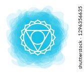 vishuddha icon. the fifth... | Shutterstock .eps vector #1296356635