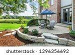 patio decor exterior... | Shutterstock . vector #1296356692