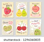 funny fruits love quotes. here...   Shutterstock .eps vector #1296360835