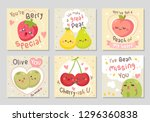 funny fruits love quotes. here... | Shutterstock .eps vector #1296360838