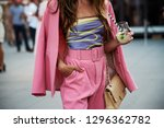 street style image of young... | Shutterstock . vector #1296362782
