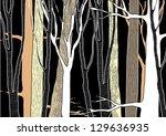 hand drawn deep forest   vector ... | Shutterstock .eps vector #129636935