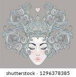 tribal fusion boho diva....   Shutterstock .eps vector #1296378385