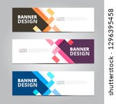 vector abstract design banner... | Shutterstock .eps vector #1296395458