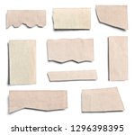 collection of various pieces of ... | Shutterstock . vector #1296398395