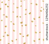 gold heart seamless pattern.... | Shutterstock . vector #1296406252