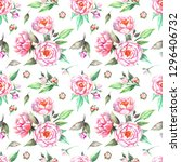 tender seamless pattern with... | Shutterstock . vector #1296406732