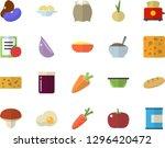 color flat icon set colander... | Shutterstock .eps vector #1296420472