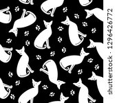 seamless pattern with white... | Shutterstock .eps vector #1296426772