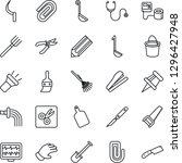 thin line icon set   pencil... | Shutterstock .eps vector #1296427948