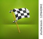 checkered flag  vector | Shutterstock .eps vector #129642842