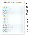 continue the pattern with... | Shutterstock . vector #1296429715