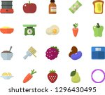color flat icon set weighing... | Shutterstock .eps vector #1296430495