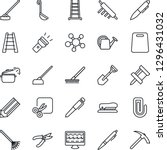 thin line icon set   pen vector ... | Shutterstock .eps vector #1296431032