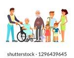 big family portrait including... | Shutterstock . vector #1296439645